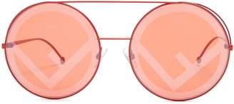 Fendi Large round-frame metal sunglasses