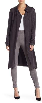 Do & Be Do + Be Faux Suede Tie Waist Duster