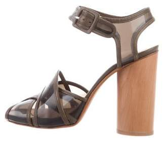 Opening Ceremony Robert Clergerie x Leather-Trimmed PVC Sandals