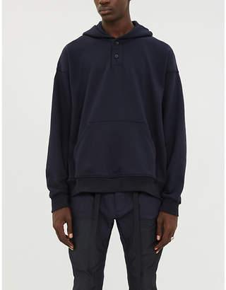 Fear Of God Henley cotton-jersey hoody