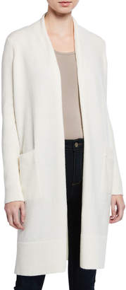 MICHAEL Michael Kors Long Luxe Cardigan with Ribbed Sleeves