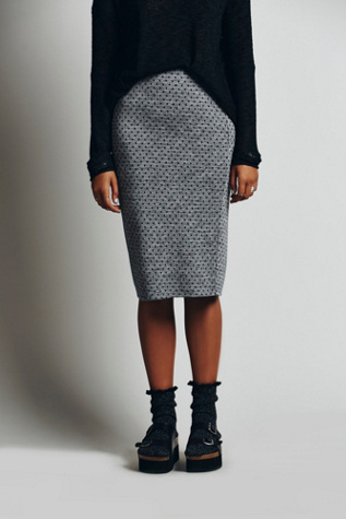 Free People Lost in the Dots Pencil Skirt