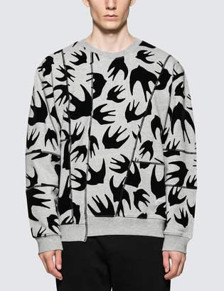 McQ Cutup Coverlock Sweatshirt