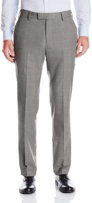Louis Raphael Men's Slim Fit Flat Front Pattern Dress Pant