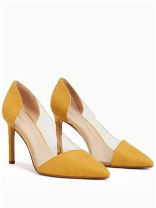 MANGO Alegra Perspex Court Shoe - Mustard