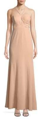 Aidan Mattox Halter Cutout Dress