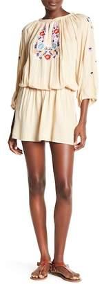 Melissa Odabash Nadja Embroidered Knit Short Dress