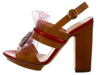 Rupert Sanderson Leather Kiltie Sandals