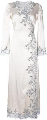 long Déshabillé Cache-Coeur gown