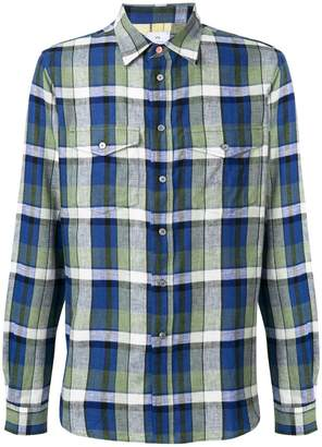 Paul Smith check print patch pocket shirt