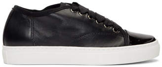 Lanvin Black Leather Low-Top Sneakers