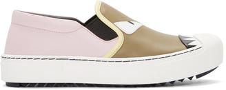Fendi Multicolor Bag Bugs Slip-On Sneakers $695 thestylecure.com