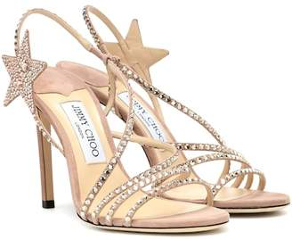 Jimmy Choo Lynn 100 embellished suede sandals