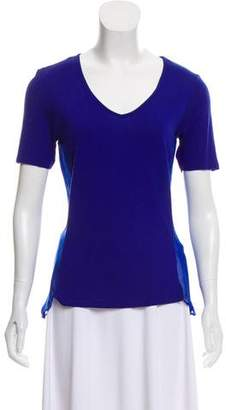Reiss Short Sleeve V-Neck Top