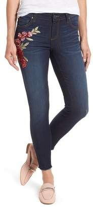 KUT from the Kloth Connie Embroidered Skinny Ankle Jeans (Petite)