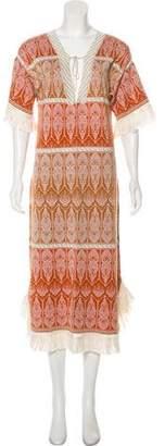 Rachel Zoe Short Sleeve Midi Dress