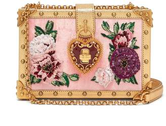 Dolce & Gabbana Dolce floral-embroidered velvet box bag