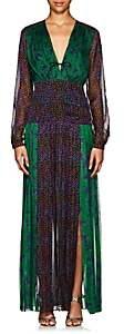 RAQUEL DINIZ Women's Abrah Floral Silk Dress
