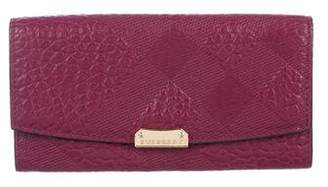 Burberry Embossed Leather Wallet
