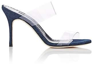 Manolo Blahnik Women's Scolto PVC & Denim Mules