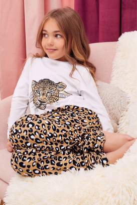 Next Lipsy Girl Leopard Printed PJ Set