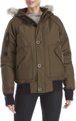 Sorel Caribou Real Fur Trim Hooded Bomber Jacket