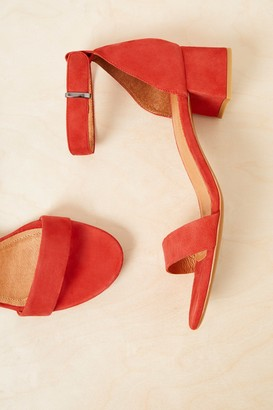 8ebe0c4b3a French Connenction Karla Suede Block Heel Shoes