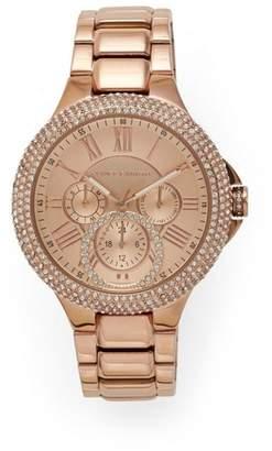 Vince Camuto Rose Goldtone Crystal-embellished Link Watch