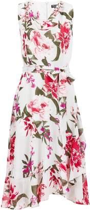 Dorothy Perkins Womens **Billie & Blossom Grey Floral Print Midi Dress