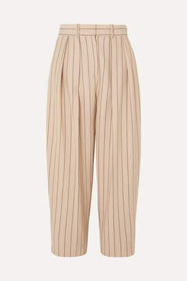 See by Chloe Pinstriped Twill Pants - Beige