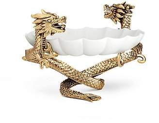 L'OBJET 24K Gold-Plated Dragon Bowl