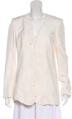 Stella McCartney Structured Collarless Blazer