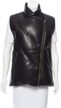 Helmut Lang Leather Puffer Vest