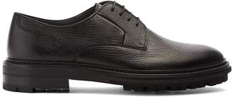 Lanvin Lace-up grained-leather derby shoes