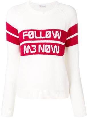RED Valentino Follow Me Mow jacquard jumper