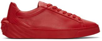 Versace Red Back Medusa Head Sneakers