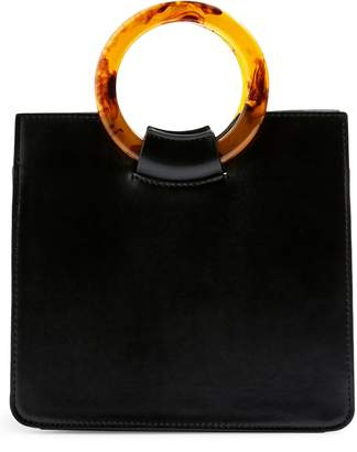 Topshop Mini Adele Faux Leather Top Handle Bag