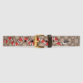 Gucci GG Supreme belt with Kingsnake print