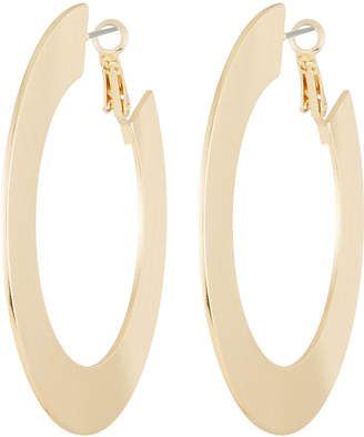 Kenneth Jay Lane Large Flat Hoop Earrings
