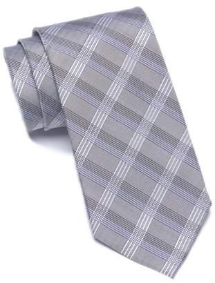 Calvin Klein Plaid Silk Blend Tie