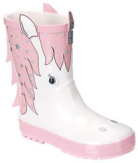 John Lewis Children's 3D Unicorn Wellington Boots, Pink/White
