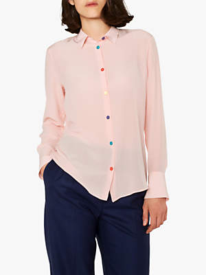Paul Smith Multi Colour Button Silk Shirt, Pink