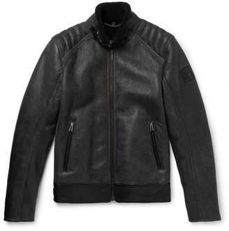 Belstaff Westlake Leather-Trimmed Shearling Jacket