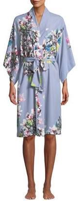 Natori Garbo Floral-Print Robe