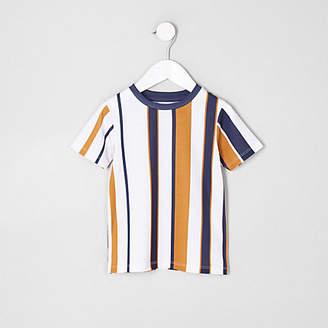 River Island Mini boys white stripe T-shirt