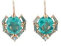 Nak Armstrong Women's Satchel Drop Earrings - Blue