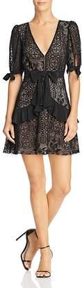For Love & Lemons Ruffled Lace Mini Dress - 100% Exclusive