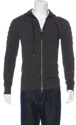 Helmut Lang Wool-Blend Knitted Hoodie