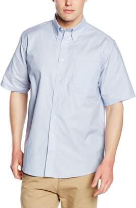 Fruit of the Loom Mens Short Sleeve Oxford Shirt (XXL)