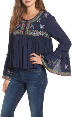 Kas Megan Embroidered Cotton Gauze Blouse
